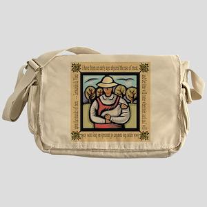 Vegetarian da Vinci Quote Messenger Bag