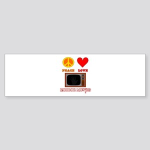 Peace Love Horror Movies Sticker (Bumper)