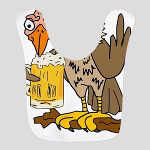 Buzzard Drinking Beer Polyester Baby Bib