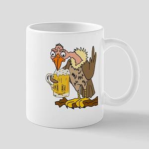 Buzzard Drinking Beer Mugs
