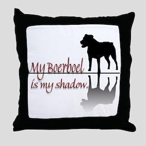 My Boerboel is My Shadow Throw Pillow