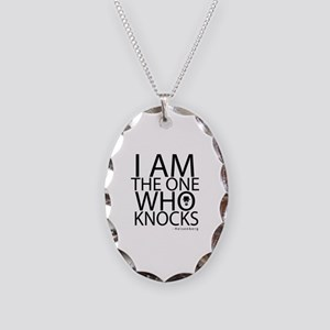 'The One Who Knocks' Necklace Oval Charm