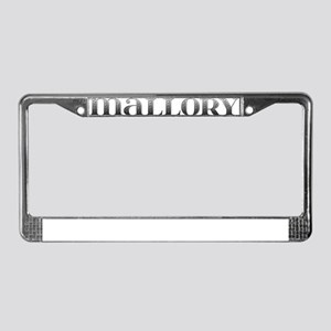 Mallory Carved Metal License Plate Frame