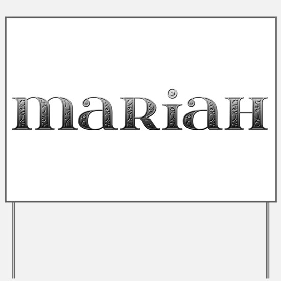 Mariah Carved Metal Yard Sign