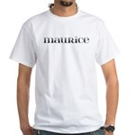 Maurice Carved Metal White T-Shirt