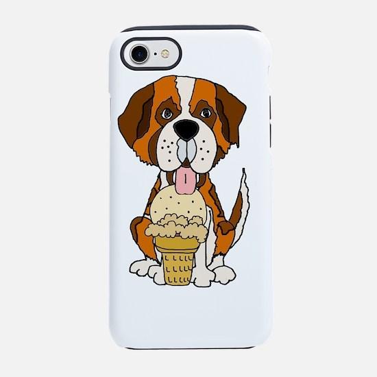 Saint Bernard Eating Ice Cream iPhone 7 Tough Case