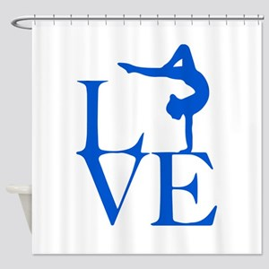 Love Gymnastics Shower Curtain
