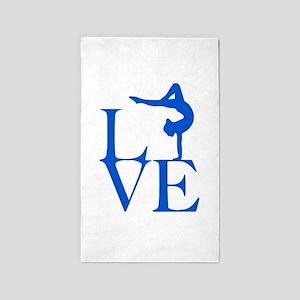 Love Gymnastics Area Rug