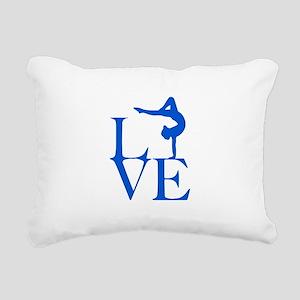 Love Gymnastics Rectangular Canvas Pillow