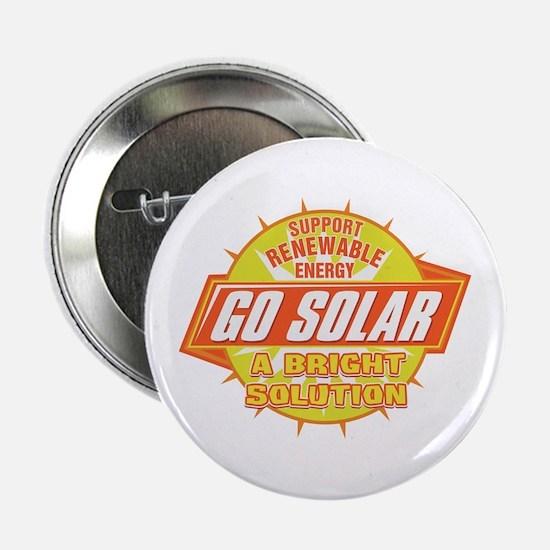 """Go Solar Bright Solution 2.25"""" Button"""