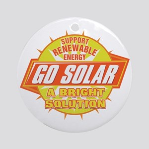 Go Solar Bright Solution Ornament (Round)