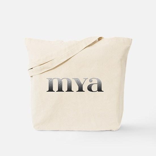 Mya Carved Metal Tote Bag