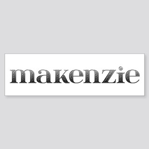 Makenzie Carved Metal Bumper Sticker