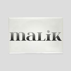 Malik Carved Metal Rectangle Magnet