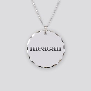 Meagan Carved Metal Necklace Circle Charm