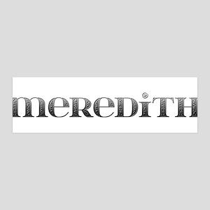 Meredith Carved Metal 42x14 Wall Peel