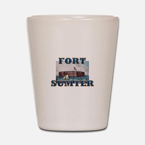 ABH Fort Sumter Shot Glass