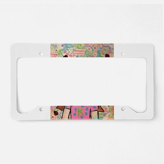Kritter Girl License Plate Holder