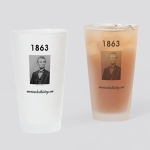 Timeline 1863 Drinking Glass