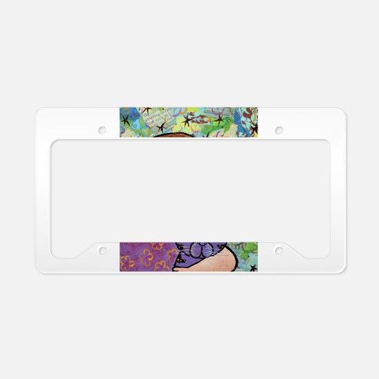 Cool Mixed media License Plate Holder