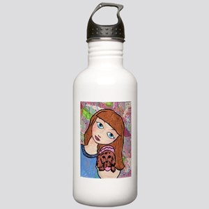 Kritter Girl and Baby - Dog Stainless Water Bottle