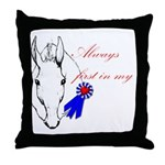 First in My Heart Throw Pillow