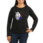 First in My Heart Women's Long Sleeve Dark T-Shirt