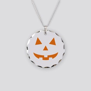 Jack O Lantern Necklace Circle Charm