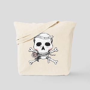 Skull - Love Bites Tote Bag
