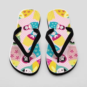 Matryoshka Russian Doll Flip Flops