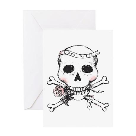 Skull - Love Bites Greeting Card