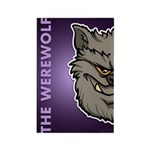 The Werewolf (Gray) Rectangle Magnet