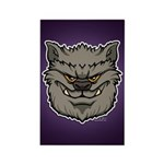 The Werewolf (Gray) Rectangle Magnet (10 pack)