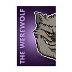The Werewolf (Gray) Mini Poster Print