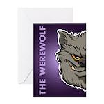 The Werewolf (Gray) Greeting Card