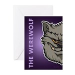 The Werewolf (Gray) Greeting Cards (Pk of 20)
