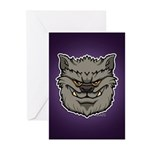 The Werewolf (Gray) Greeting Cards (Pk of 10)