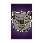 The Werewolf (Gray) Sticker (Rectangle)