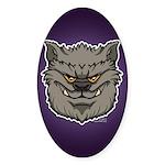 The Werewolf (Gray) Sticker (Oval)