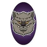 The Werewolf (Gray) Sticker (Oval 10 pk)