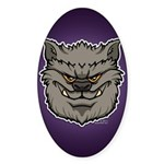 The Werewolf (Gray) Sticker (Oval 50 pk)