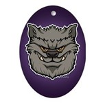 The Werewolf (Gray) Ornament (Oval)