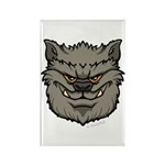 The Werewolf (Gray) Rectangle Magnet (100 pack)