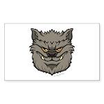 The Werewolf (Gray) Sticker (Rectangle 50 pk)