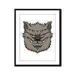 The Werewolf (Gray) Framed Panel Print