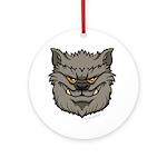 The Werewolf (Gray) Ornament (Round)