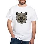 The Werewolf (Gray) White T-Shirt