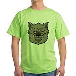 The Werewolf (Gray) Green T-Shirt