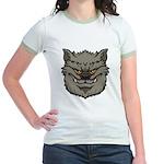 The Werewolf (Gray) Jr. Ringer T-Shirt
