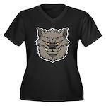 The Werewolf (Gray) Women's Plus Size V-Neck Dark